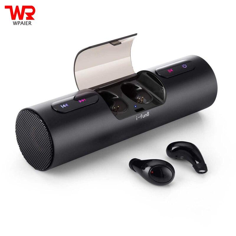 WPAIER FUN 8 Wireless Bluetooth Headphones+Bluetooth speaker Outdoor sports headsets Portable audio Two-in-one earphone/speaker