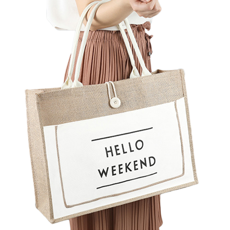 High Quality Women Linen Luxury Tote Large Capacity Female Casual Shoulder Bag Lady Daily Handbag Fresh Beach Shopping BagHigh Quality Women Linen Luxury Tote Large Capacity Female Casual Shoulder Bag Lady Daily Handbag Fresh Beach Shopping Bag
