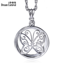 DC1989 Fashion Butterfly Cover Library Reading Gold Platinum Plated Pendant Necklace 2X Zoom Magnifier Optical Chain P-0034