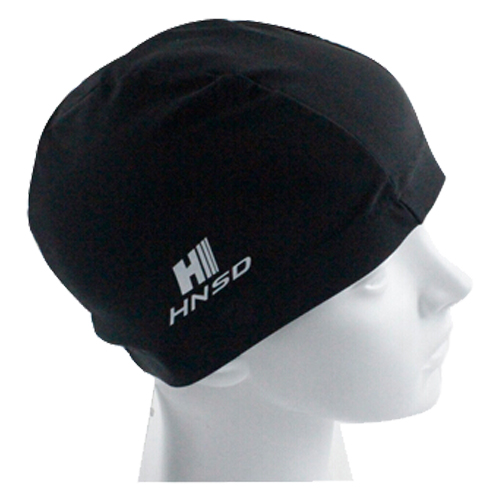 HNSD Cotton+spandex Swimming Hat Cover Protect Ear Long Hair Waterdrop Swimming Caps black 4