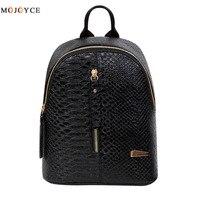 2017 Hot Chain Women Leather Backpacks School Bags Rucksacks Travel Backpack Female Shoulder Women Bag Mochila
