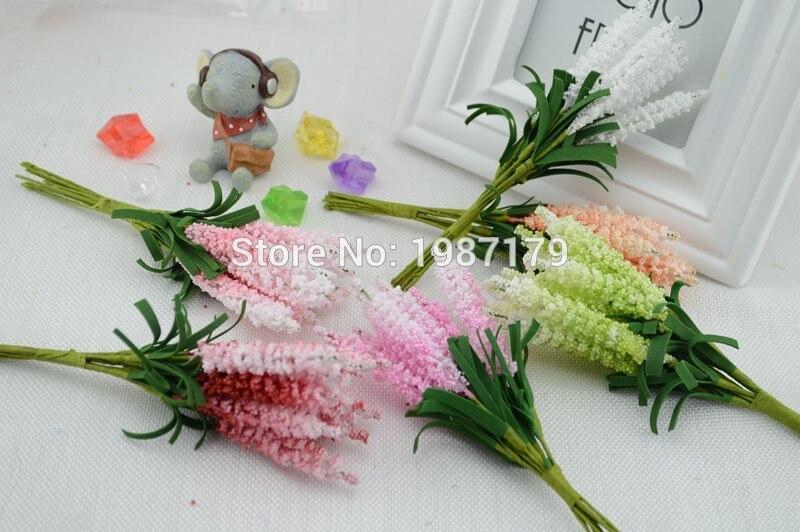 nuevo (10 unids/lote) diy guirnaldas de flores artificiales pe lavanda estrella