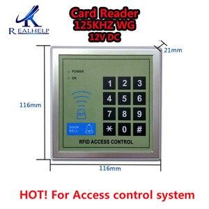 Image 1 - 2000 usuários rfid cartão de controle de acesso 125khz wg, teclado e controle de acesso código, leitor de cartão, 12v dc dc