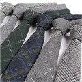 6 cm de Los Hombres lazos de lana rejilla lazos para hombre flaco delgado caballero corbatas de boda para los hombres