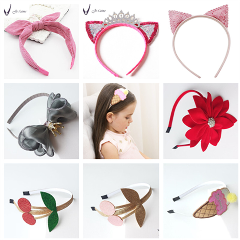 Korea Flowers Hand Made Ribbon flowers Retro Hair Accessories Hairband for Girls wn Hairpin Headbands For girls halloween party zombie skull skeleton hand bone claw hairpin punk hair clip for women girl hair accessories headwear 1 pcs