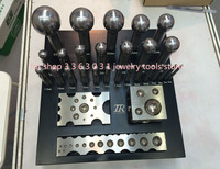 26pcs Jewelry Punch Set Big Size Pcnches and Block for Jewelry Making Silver Gold Plate FORMING TOOLS