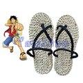 Anime de una pieza del mono D Luffy Cosplay zapatos de paja hechos a mano sandalias zapatillas envío gratis