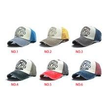 59f9e75eddf 6 colors cotton Vintage Snapback Cap adjustable hat Unisex Baseball  Cap(China)