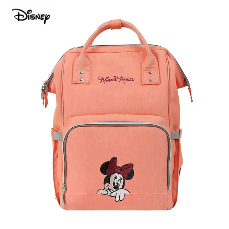 Disney Minnie Mouse Bag For Mother Large Capacity Mommy Pregnant Women Nappy Waterproof Polyester Maternity Diaper Backpack 4