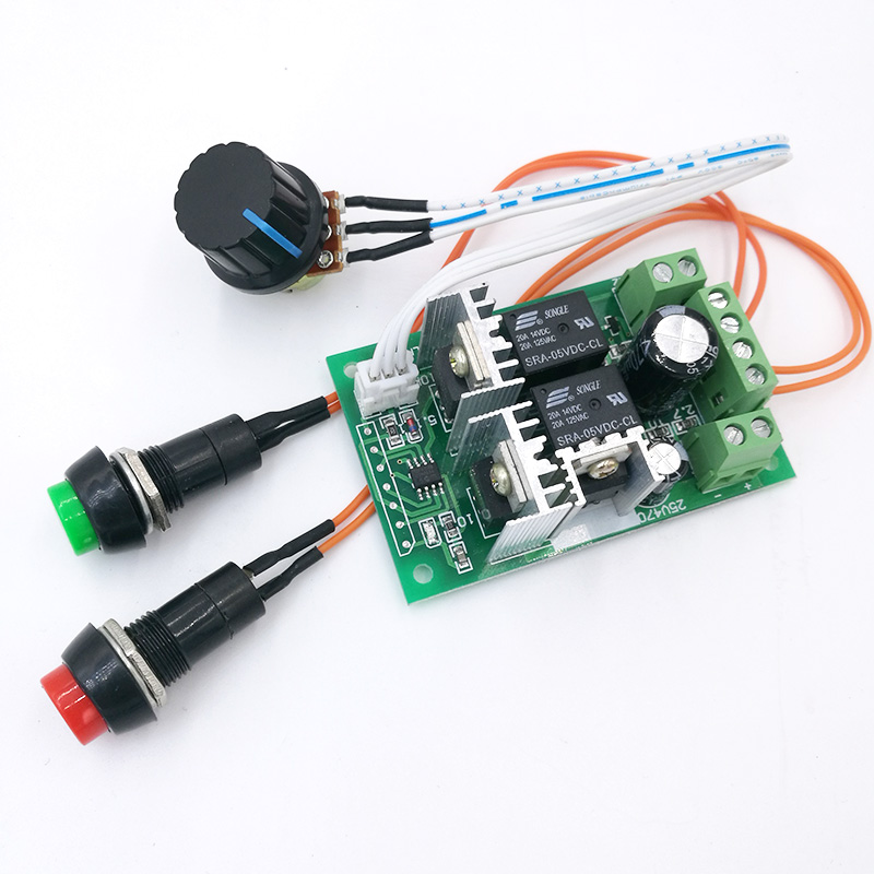 10A PWM Dc Motor Controller Forward And Backward Linear Actuator Governor Speed Control Self-reset 6V/12V/24V