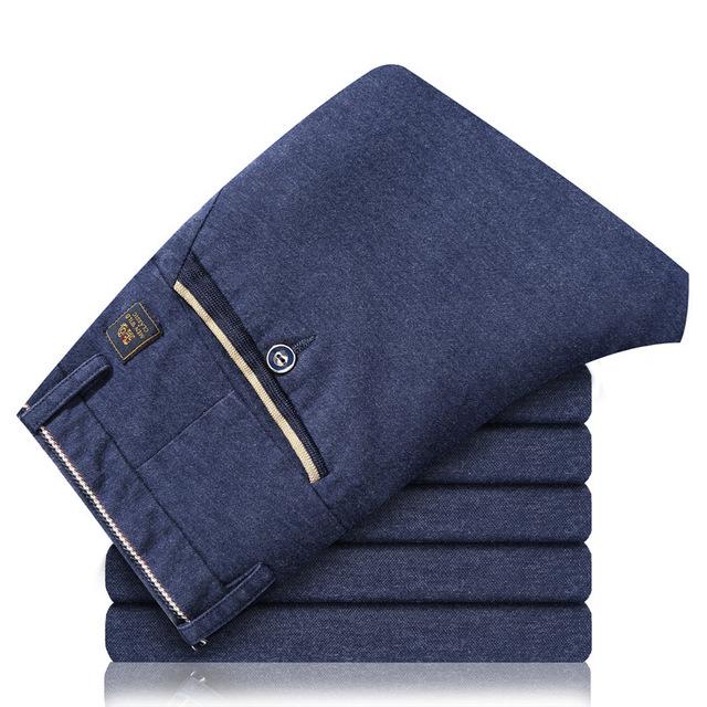 2016 outono nova calça casual homens Slim Fit calças stretch Reta tamanho Lager Homens Longas Calças Para Fora O desgaste Para Homens Bussiness Z2510