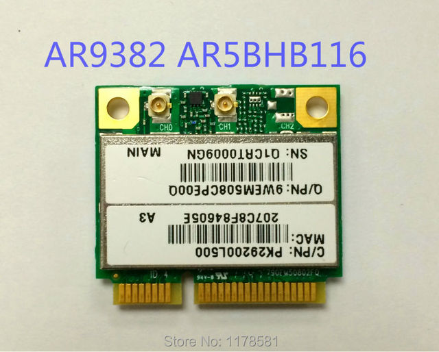 Brand New Atheros AR9832 AR5BHB116 Wireless WIFI N 802.11a/b/g/n Half MINI PCI-E Card for Laptop Network Adapter