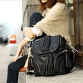 2017 women's spring handbag chain tassel bucket bag brief vintage all-match one shoulder cross-body small bags