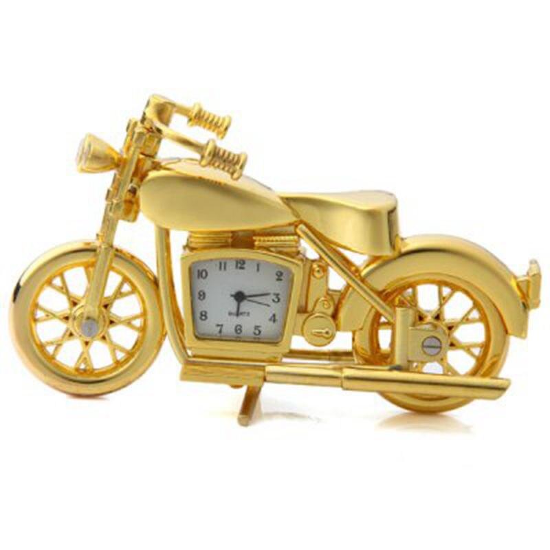 2016 New Motorcycle Design Quartz Clock Alarm Clock Time Keeper Timepiece Desktop Children Alarm Clock relogio