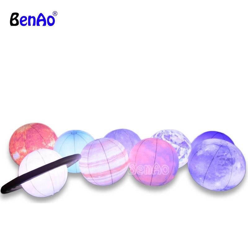 J042 nouveaux ballons gonflables d'éclairage de vénus de mode, ballons gonflables de planète de système solaire avec la lumière LED pour l'événement