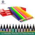 Цветные карандаши Lapiz  профессиональные цветные карандаши для рисования  металлические цветные карандаши  школьные канцелярские принадлеж...
