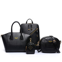 Women leather Bag 2016 New package four-piece set purses and handbags shoulder bag messenger bags high end leather women handbag