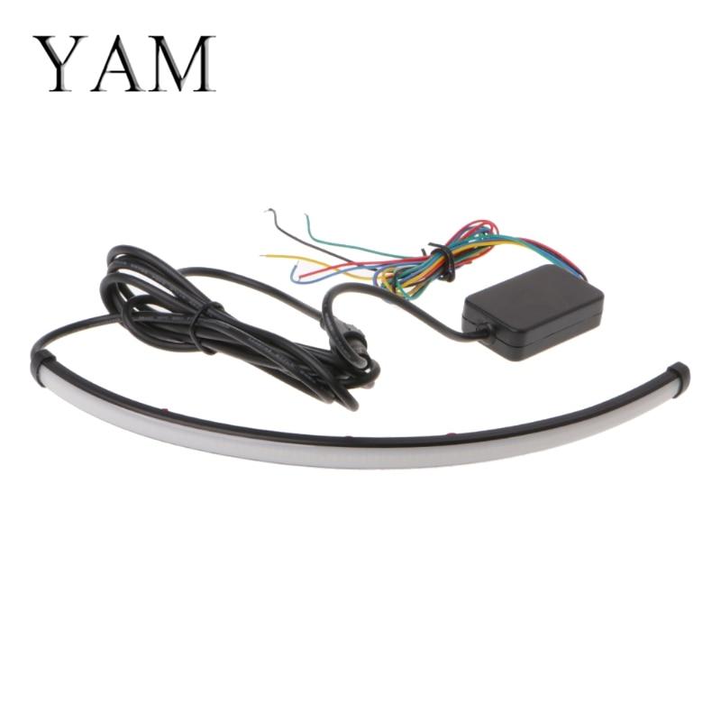 YAM 1x12 5 mode Switchback Flowing Knight Turn Signal Brake Light Car DRL LED Strip isrotel yam suf ex ambassador 4 эйлат