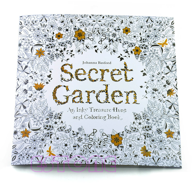 1 PC 54 G New An Inky Treasure Hunt And Coloring Book SECRET GARDEN By Johanna