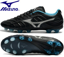 Mizuno Rebula V1 TF Soccer shoes Sneakers top microfiber leather broken nail Running Shoes Weightlifting Shoes Black Size 39-45