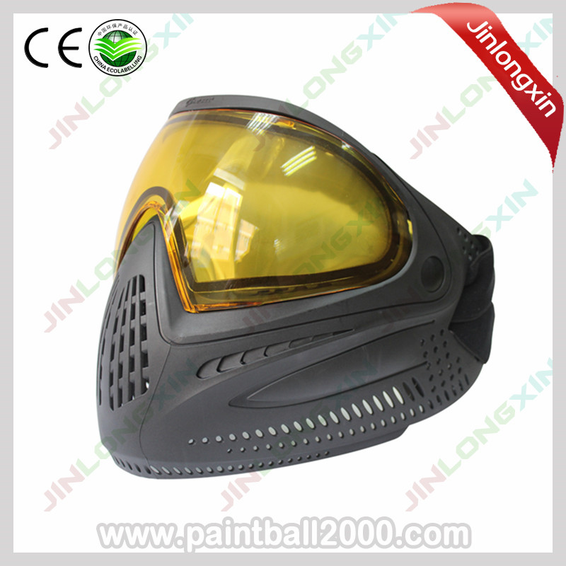 SPUNKY Tactical Full Face Paintball Mask with Dye I4 Thermal Lens