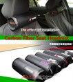 2 pcs para o infinito sti trd mugen mazdaspeed ms carbono fibra de Carro Almofadas de Assento Encosto de Cabeça Cabeça Resto Pescoço Almofada Cilindro almofada
