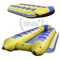 B007 Envío Libre Juguete Fly Fish Barco de Plátano Inflable Del Agua/mar inflable banana boat/PVC banana inflable flotante barco