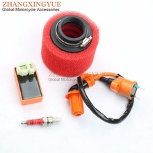 racing performance 6 pin AC CDI ignition coil 38mm air filter A7TC spark plug for