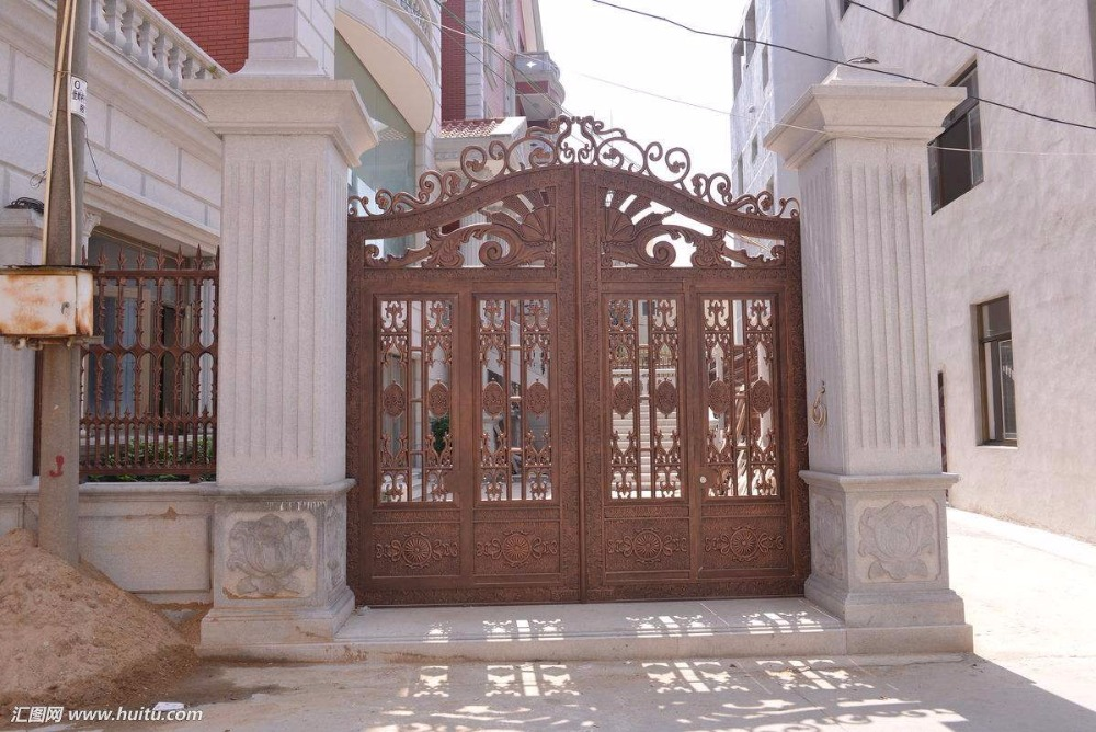 Home Aluminium Gate Design / Steel Sliding Gate / Aluminum Fence Gate Designs Hc-ag33