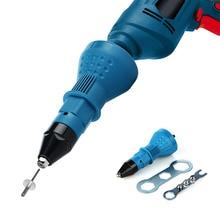 Electric Pull Rivet Conversion Adapter Nut Guns Riveting Drill Adaptor Tool Multifunction Nail Gun Rivets