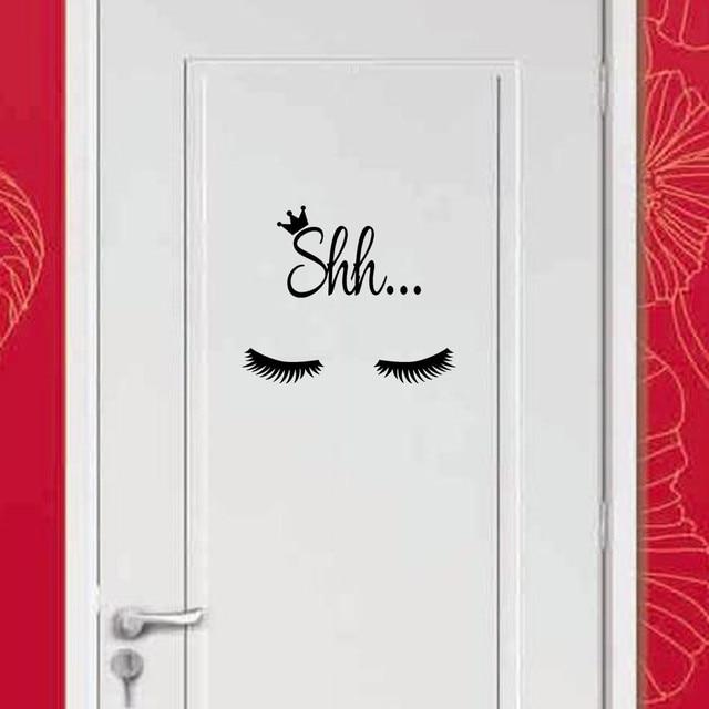 Tường Sticker Lông Mày trang trí nội thất sáng tạo hiện đại dán cửa Phòng Tắm phòng ngủ a803 29