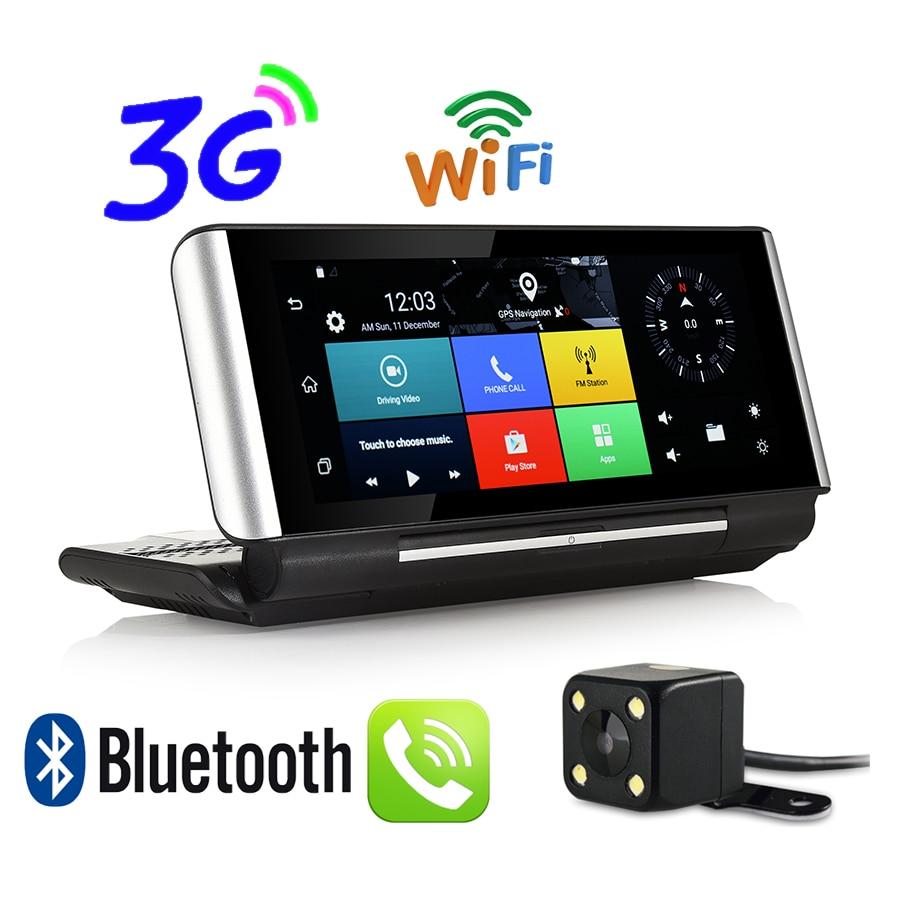 Udricare 7 дюймов 3G приборной панели GPS Android 5.0 WIFI Bluetooth телефон GPS DVR Двойной объектив FHD 1080 P DVR 1 ГБ оперативная память заднего вида Камера GPS