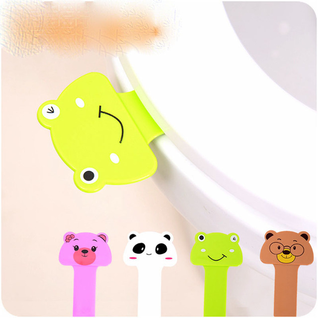 1PC Cartoon Portable Cover Lifter Toilet Seat Handle Bathroom Lid Cover Toilet Bowl Seat Lift Handle Bathroom Holder Accessories