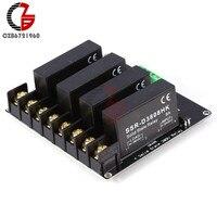 Arduino R3 Raspberry PI 용 380V 8A 4 채널 SSR 솔리드 스테이트 릴레이 H-L 트리거