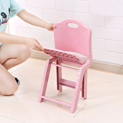 Sensational Us 30 33 Large Size Folding Kids Stool Cute Portable Plastic Stool Cartoon Ottomans Outdoors Fishing Study Dinner Children Stool In Children Chairs Machost Co Dining Chair Design Ideas Machostcouk