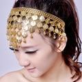 10 pçs/lote acessórios do traje de dança Do Ventre dança indiana cadeia headpiece cabelo acessório de metal moedas headband faixas de cabelo