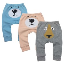 Купить с кэшбэком 3piece/lot Newborn Baby Boys Girls Baby Girls Pants Unisex Casual Bottom Harem Pants PP Pants Fox Trousers 6M-24M