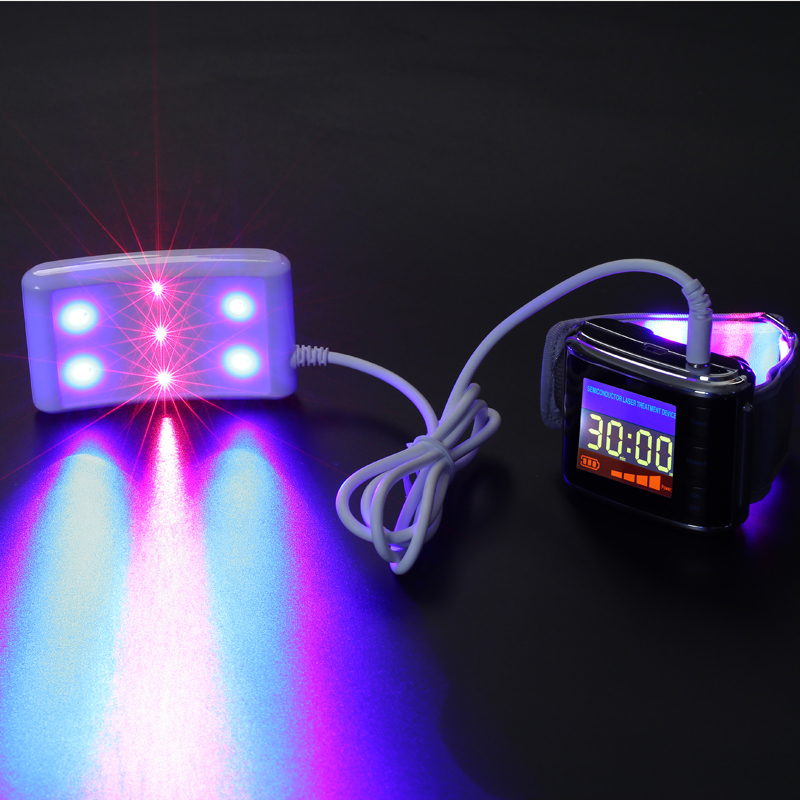 New Arrival Blood clean low level laser therapy wrist watch red/blue laser semiconductor laser therapy medical device low level laser light therapy hemodynamic metabolic wrist type pulse laser