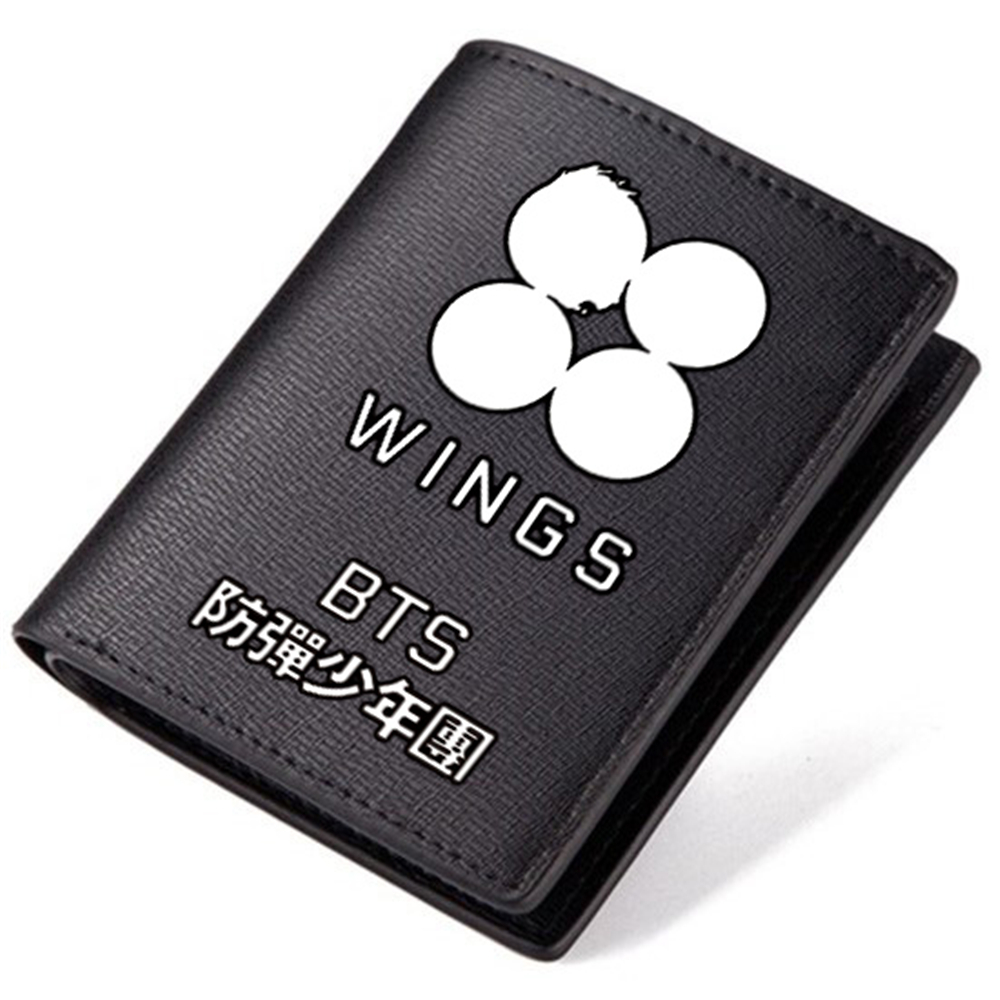 BTS Wallet BigHit WINGS Rap Monster JIN SUGA J-HOPE JIMIN Male Vocal Composition Korean Super Star Team PU Leather Purse