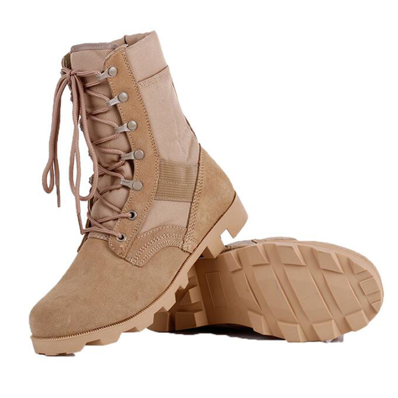 купить 2017 Winter New shose Men Breathable Camouflage Army Desert Safety Shoes Tactical Boots Military Combat Desert Boots High Top онлайн