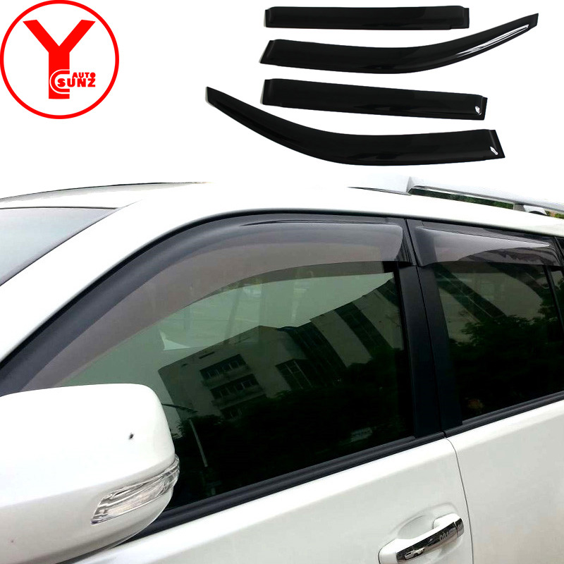 rain visor wind protector for toyota prado fj150 land cruiser 2014 2015 2016 2017 side window deflectors car accessories YCSUNZrain visor wind protector for toyota prado fj150 land cruiser 2014 2015 2016 2017 side window deflectors car accessories YCSUNZ