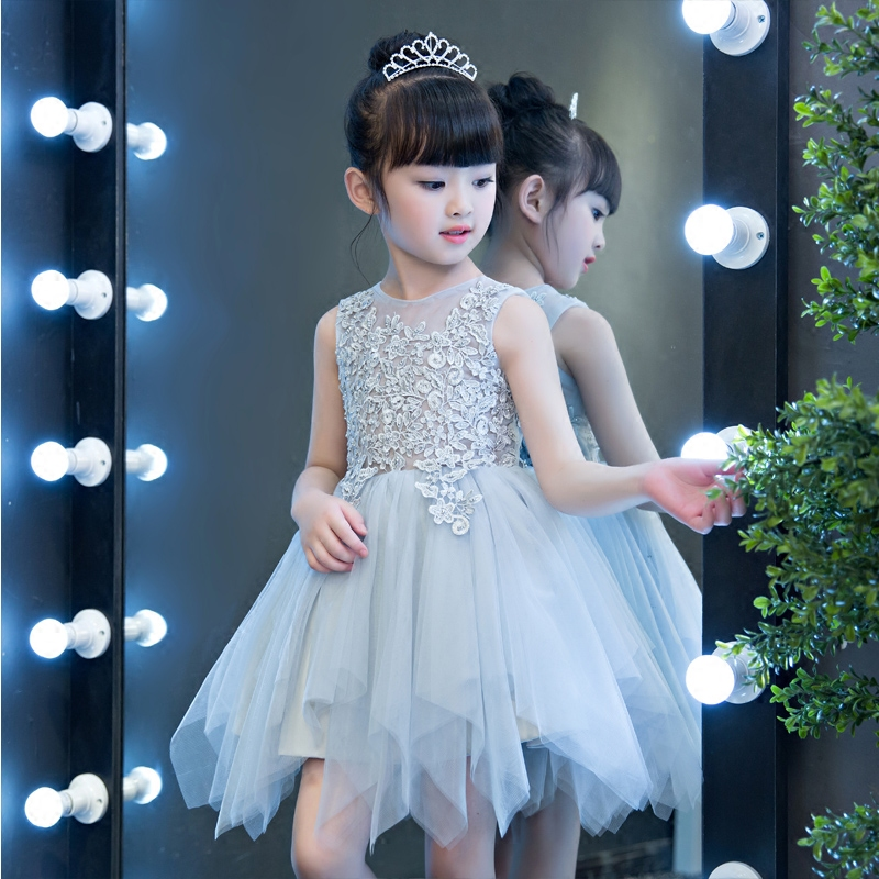 2017 New Korean Sweet Girls Dresses For Wedding Embroidered Formal Girl Birthday Party Dress Kids Princess Ball Gown Tutu Dress new flower girls party dress embroidered formal bridesmaid wedding girl christmas princess ball gown kids vestido