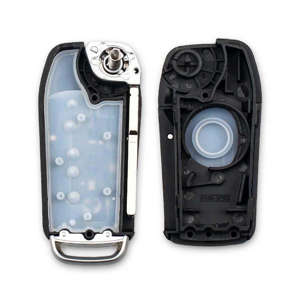 KEYYOU تعديل الوجه مفتاح للطي سيارة مفتاح بعيد قذيفة لفورد فوكس 3 فييستا مونديو c ماكس الذكية حقيبة غطاء للمفاتيح فوب 3 أزرار