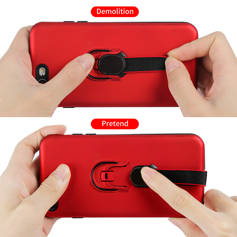 Suntaiho Magnetic Ring Phone Case for iPhone 7 plus 8 XR case 6 Luxury Shockproof Holder Cover for iPhone XS MAX case Full Cover