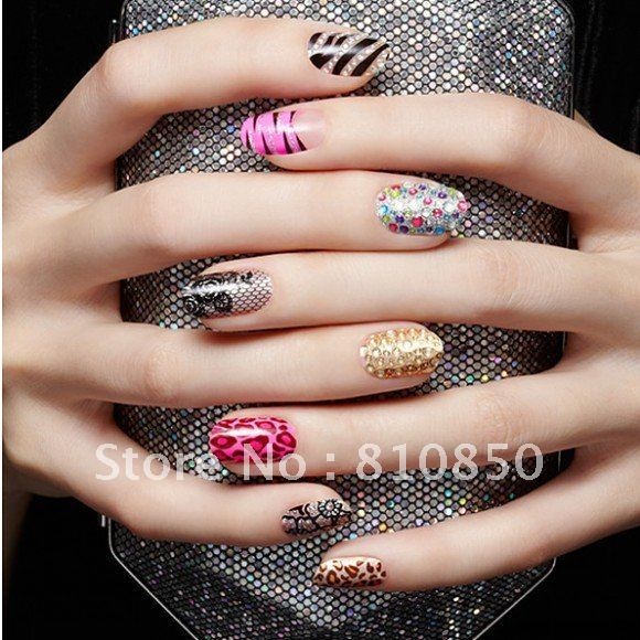Wholesale import 3D crystal and convenient nail polish stickers variety of optional high-quality quality worth having