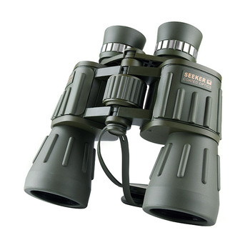 Military Seeker 10X50 Binoculars Professional Telescope Waterproof bak4 Hunting Powerful Binocular telescopes Army Green new