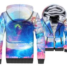 Fashion Man 2018 Winter Thick Hoodies Hip Hop Unisex Zipper Sweatshirt Harajuku Astronaut 3D Sexy Jacket For Men Casual Coat Top агата кристи tajemnica sittaford