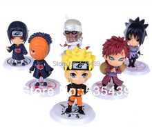 2014 NEW Hot 6 PCS set Naruto 8cm Cute Mini Anime Assortment Figures Set The 19th