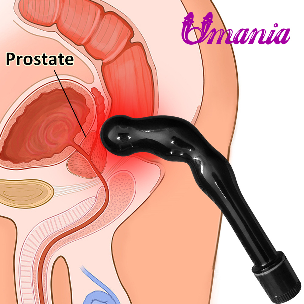 Japanese Adjustable Speed Black Prostate Massager Sex Toy for Men, Men/ Women Anal Vibrator/G Spot Vibrator for Orgasm easily ...