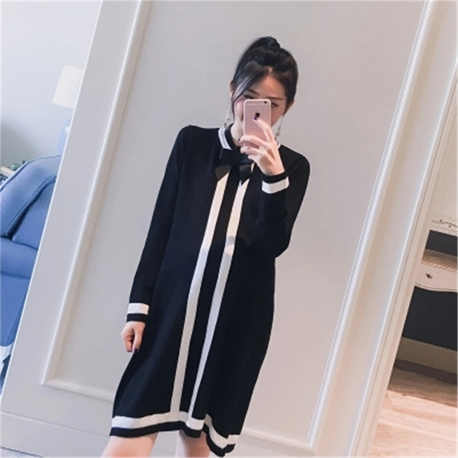 Maternity Dresses Spring Fashionable Maternity Dresses Long Pregnancy Tops Tailored Dress Pregnant Women Skirts Black 70R0174 stylish dress book simple smocks dresses and tops